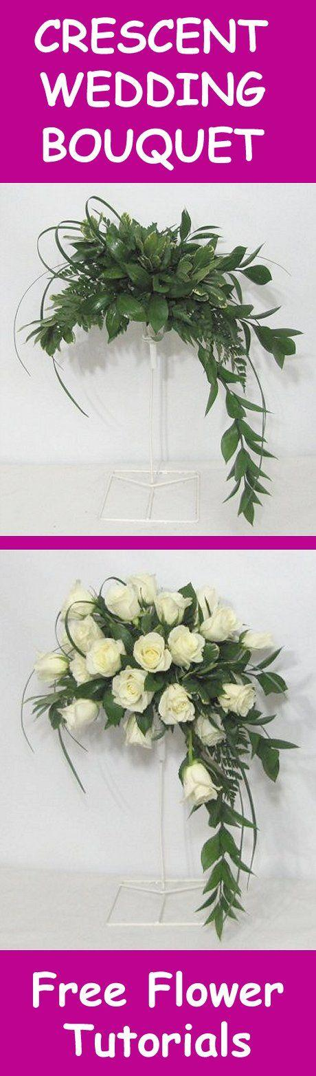 Hochzeit - Fresh Flower Wedding Bouquet - Easy DIY Flower Tutorials