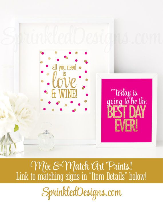 Today Is Going To Be The Best Day Ever - Printable Wedding Party ...