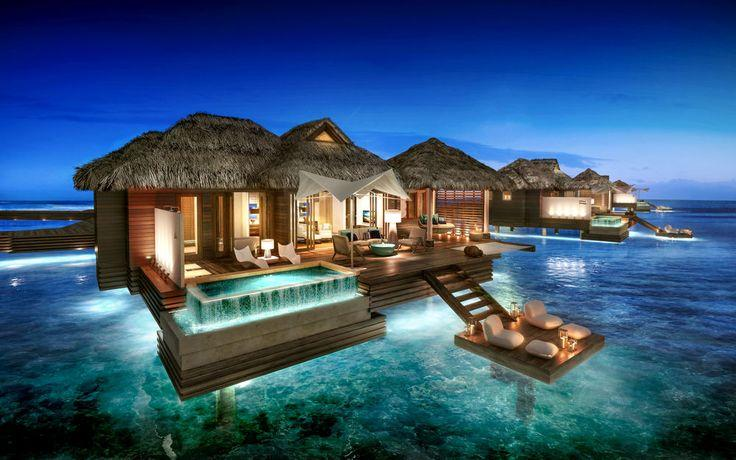 زفاف - The Caribbean's First All-Inclusive Overwater Bungalows Are Here