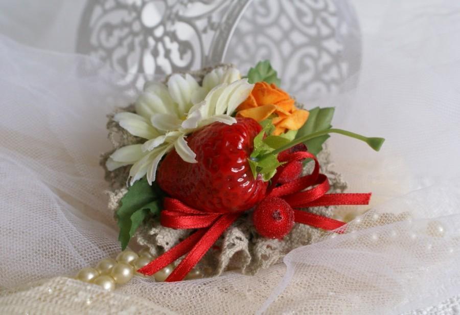 Mariage - Fruits Hair Clip Rockabilly Fascinator  Flower Strawberry Hair Accessories Burlesque Tutti Fruit