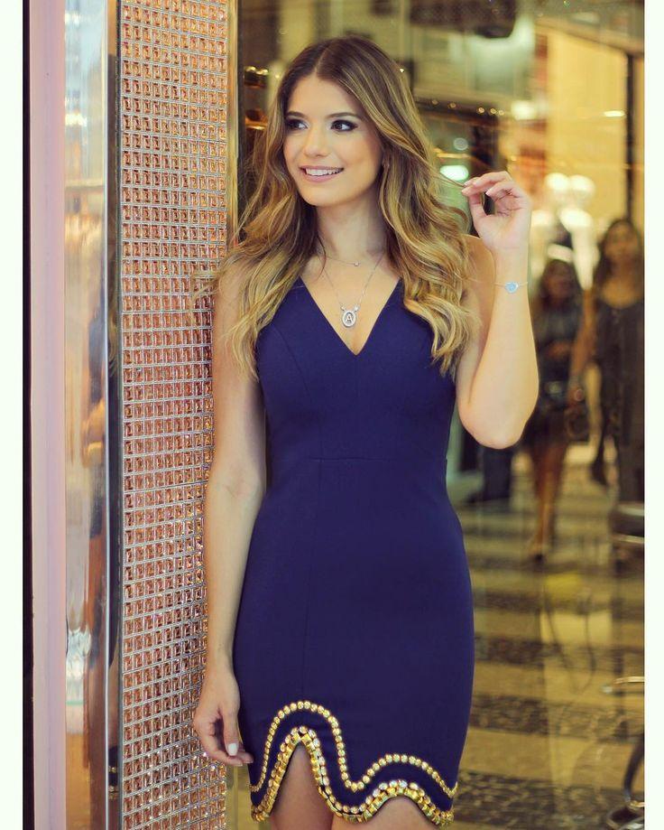 """Wedding - Blog Trend Alert On Instagram: """"Vestido @cappuccinofashion Azul Com Bordado Dourado Na Barra!  Estreando A Nova Loja Da Marca Em SP Na Rua: Aimores , 59 Loja 2 Ficou Tão…"""""""