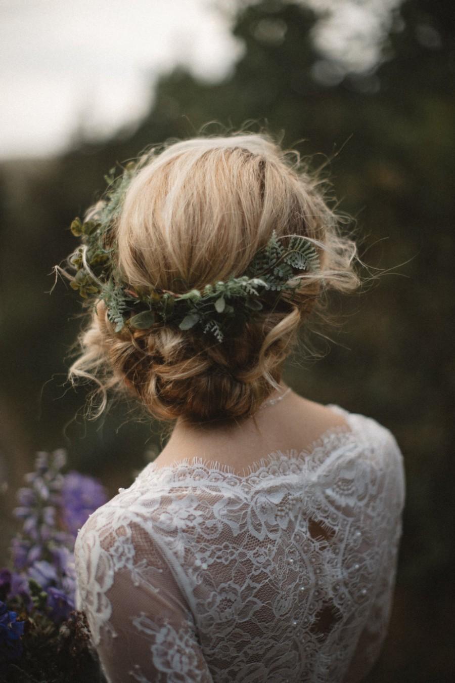 Fern Headpiece Wedding Headpiece Vine Halo Romantic Wedding