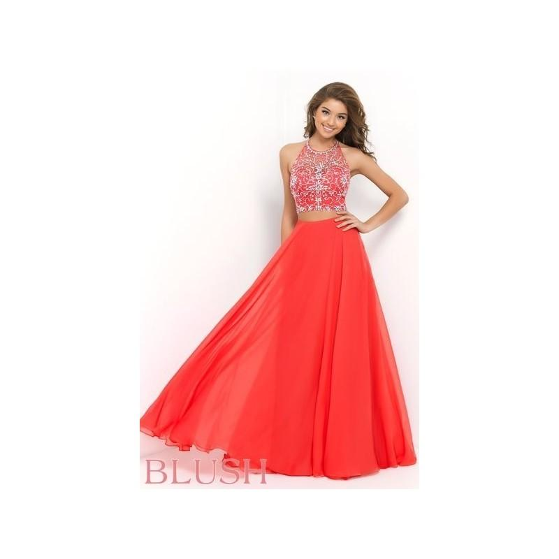 Mariage - Blush 9935 in Persimmon - Blush Prom Dress - 2017 New Wedding Dresses