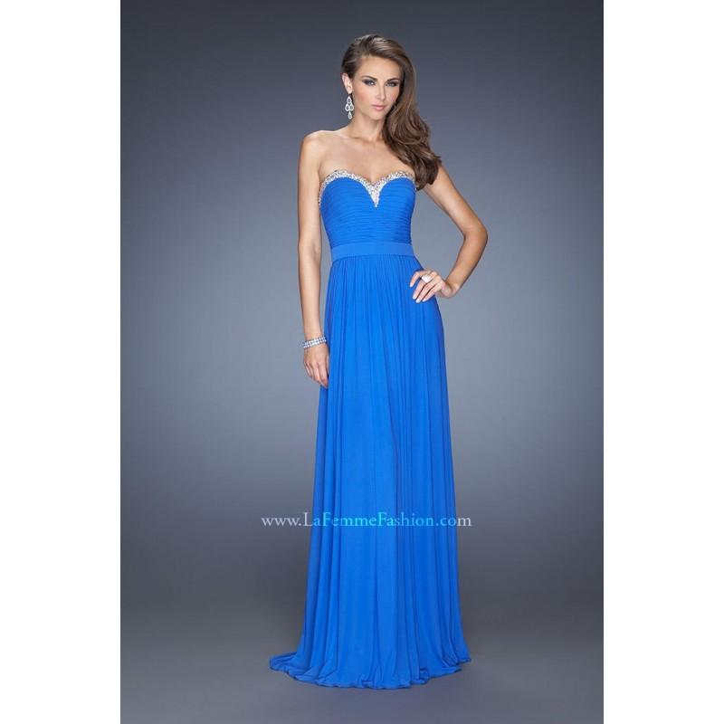 Свадьба - Electric Blue Sugarplum La Femme 20048 La Femme Prom - Top Design Dress Online Shop