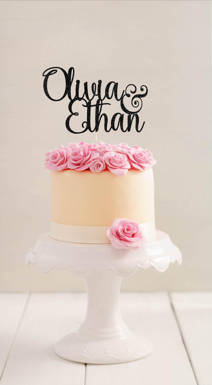 Wedding Cake Topper Laser Cut Names