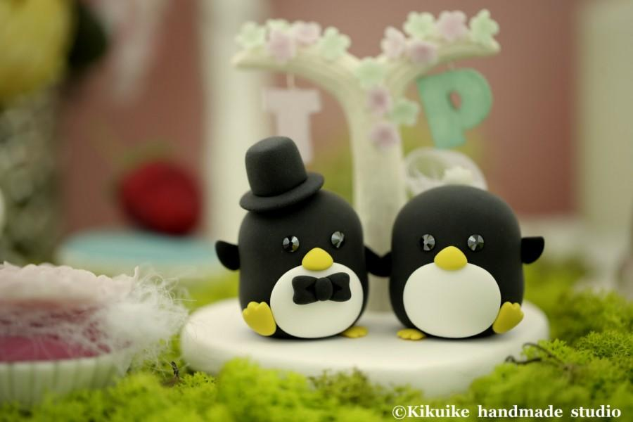 Hochzeit - Penguins cake topper (K433)