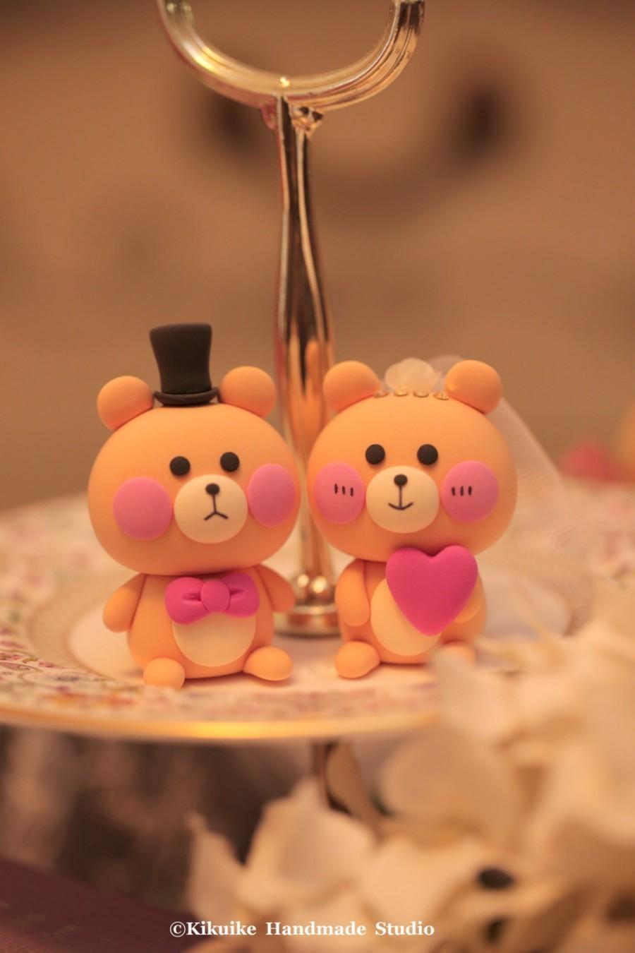 Hochzeit - bear  wedding cake topper