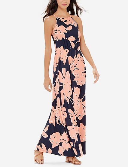 Hochzeit - Floral Print Knit Maxi Dress