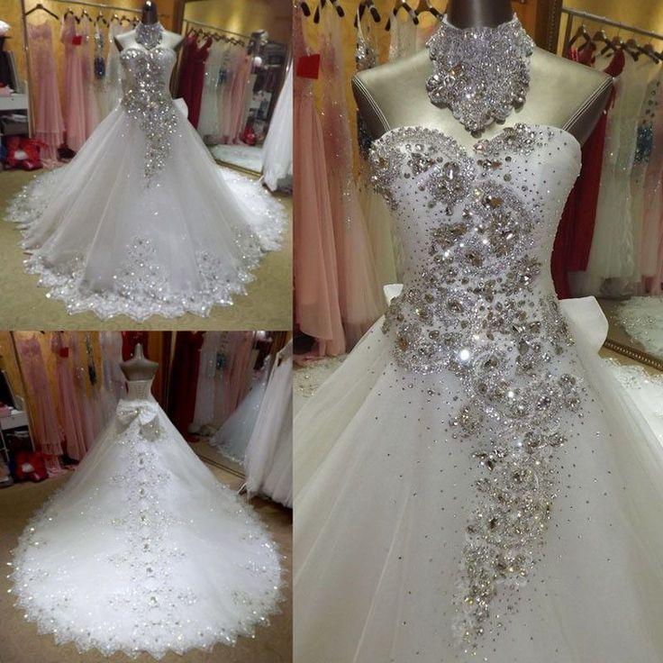 Bling Crystal Wedding Dress At Bling Brides Bouquet Online Bridal