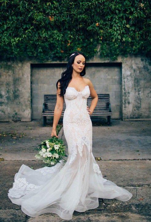 Nozze - Leah Da Gloria, Fluer - Custom Made, Size 6 Wedding Dress