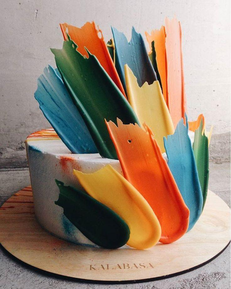 "Mariage - Everyone On Pinterest Is Obsessed With These ""Brushstroke"" Cakes"