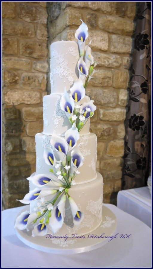Wedding - Calla Lily Wedding Cake