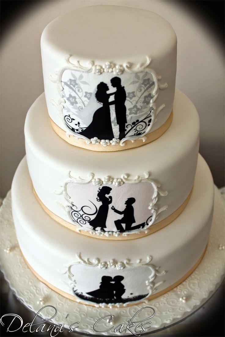 Mariage - Silhouette Wedding Cake