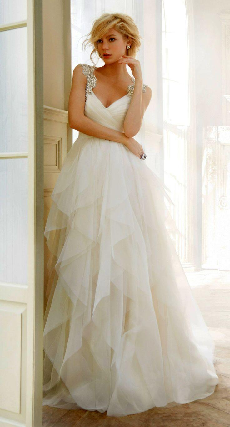 Свадьба - Hayley Paige Wedding Dress With Crystal Straps