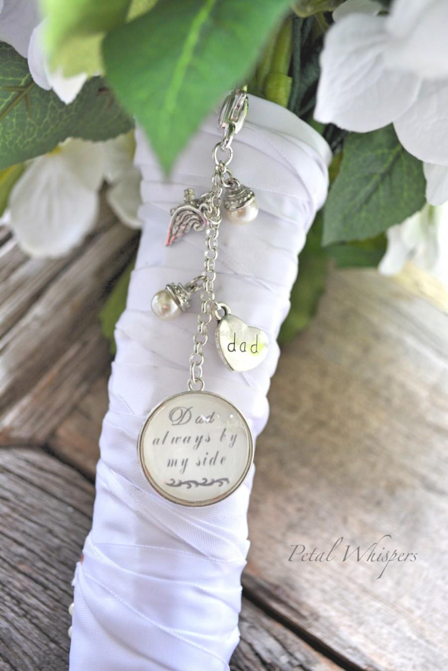 Mariage - Wedding Bouquet Charm, Bridal Bouquet Memorial Charm, Bouquet Photo Pendant, Bridal Gift, Gift For Bride, Bridal Bouquet Charm