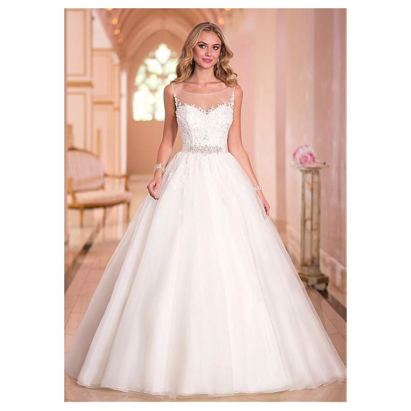 Fabulous Tulle Jewel Neckline Natural Waistline Ball Gown Wedding ...
