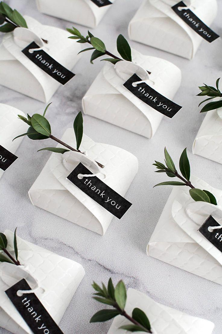 Mariage - 3 Simple And Modern DIY Wedding Favors
