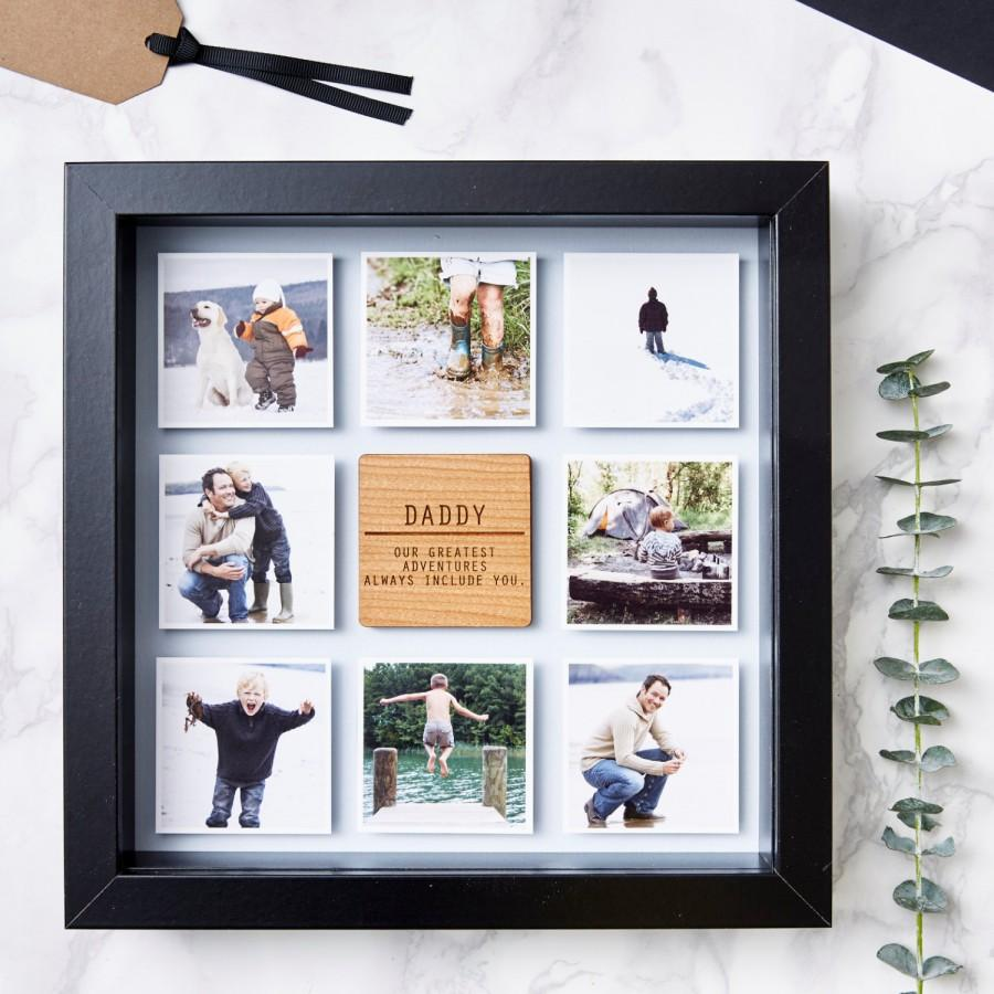 Hochzeit - Personalised Framed Father's Day Photo Print