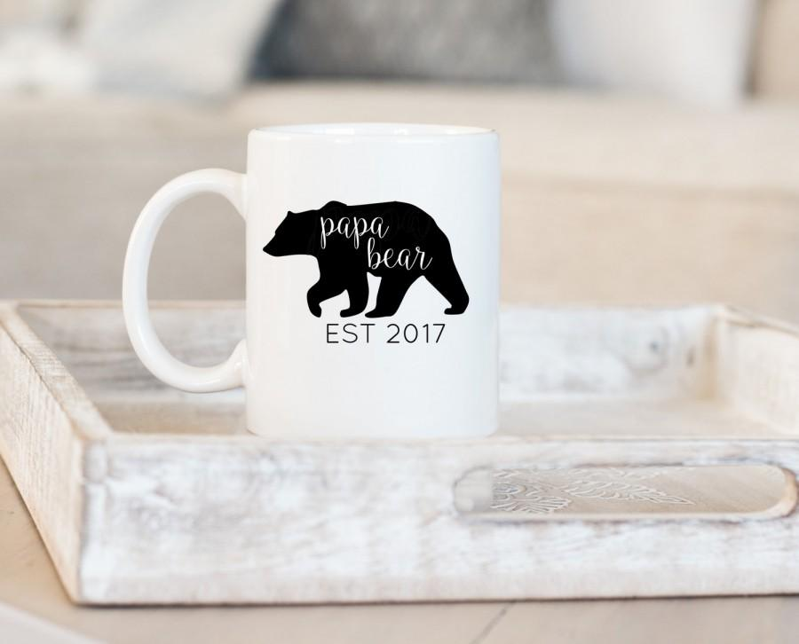 Mariage - Papa Bear Mug, Papa Mug, New Dad Mug, Dad Mug, Daddy Mug, Father Mug, New Dad Gift, Custom Mug, Personalized Mug, Pops Gift, Gift for Dad