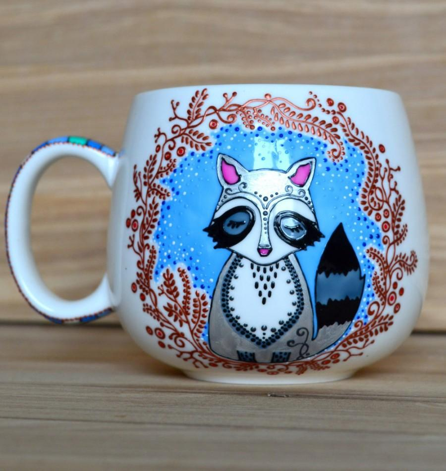 Boda - Raccoon mug Coffee mug Birthday gift Raccoon gift for her Birthday gift Gift for kids Coffee lover Funny coffee mug  for her Gift for kid