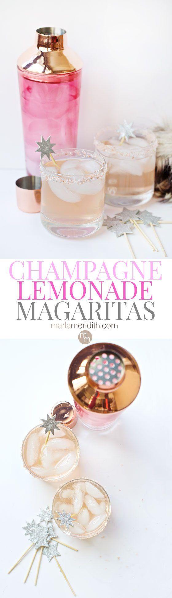 Mariage - Sparkling Champagne Lemonade Margaritas