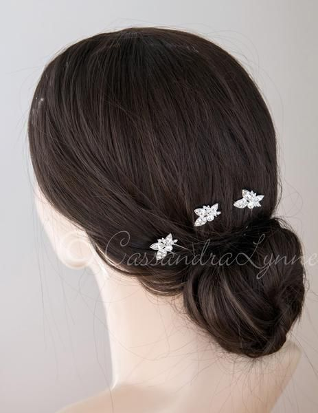 Düğün - Wedding Hair Pin With Elegant Marquise Jewels