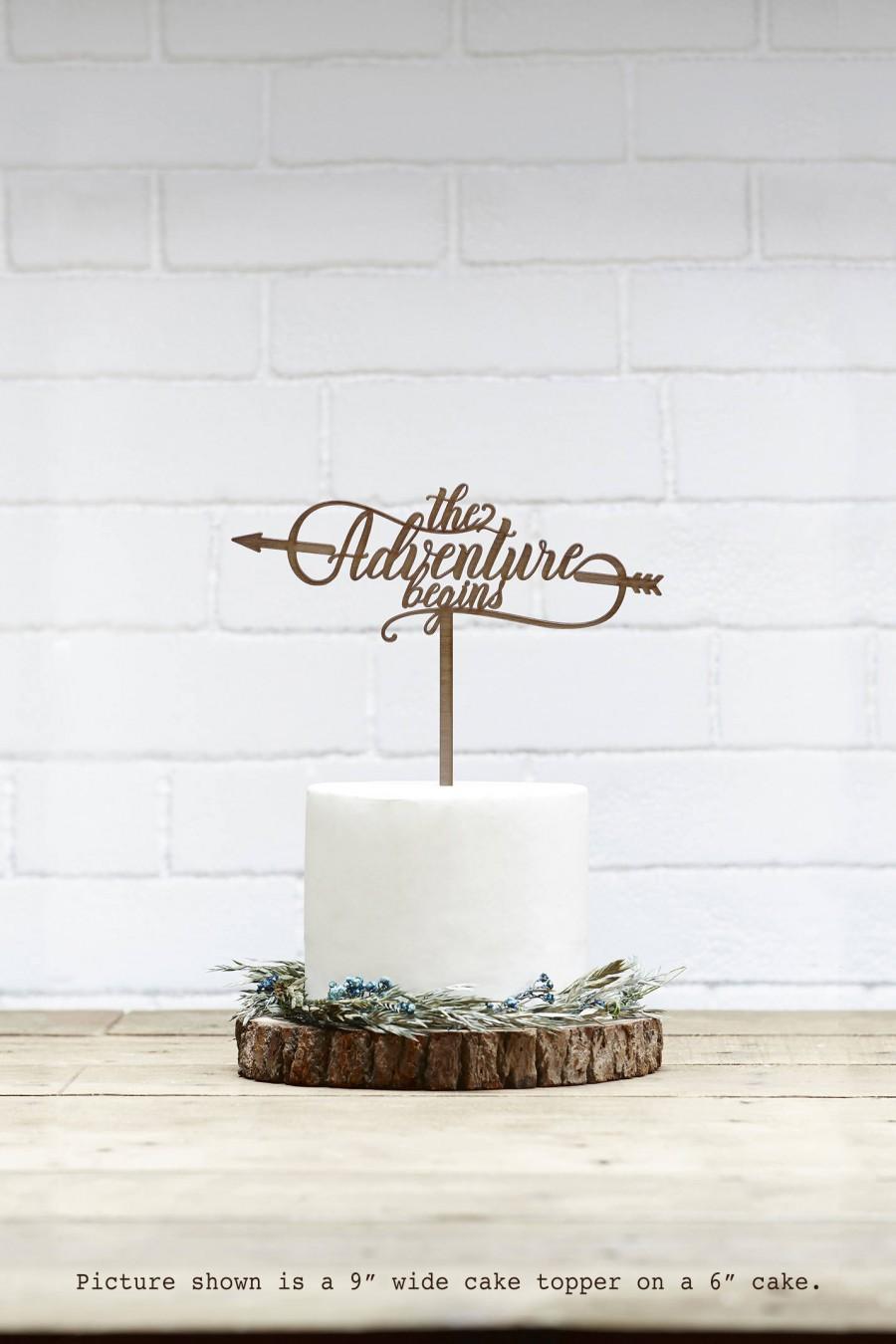 Mariage - Customized Wedding Cake Topper, Personalized Cake Topper for Wedding, Custom Personalized Wedding Cake Topper, Adventure Begins Cake Topper