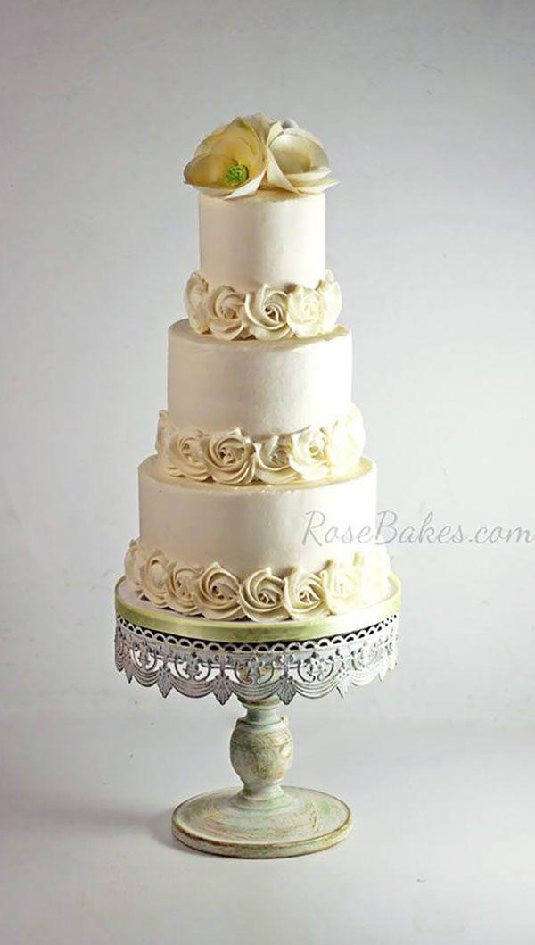 Wedding - Yellow Buttercream Cake