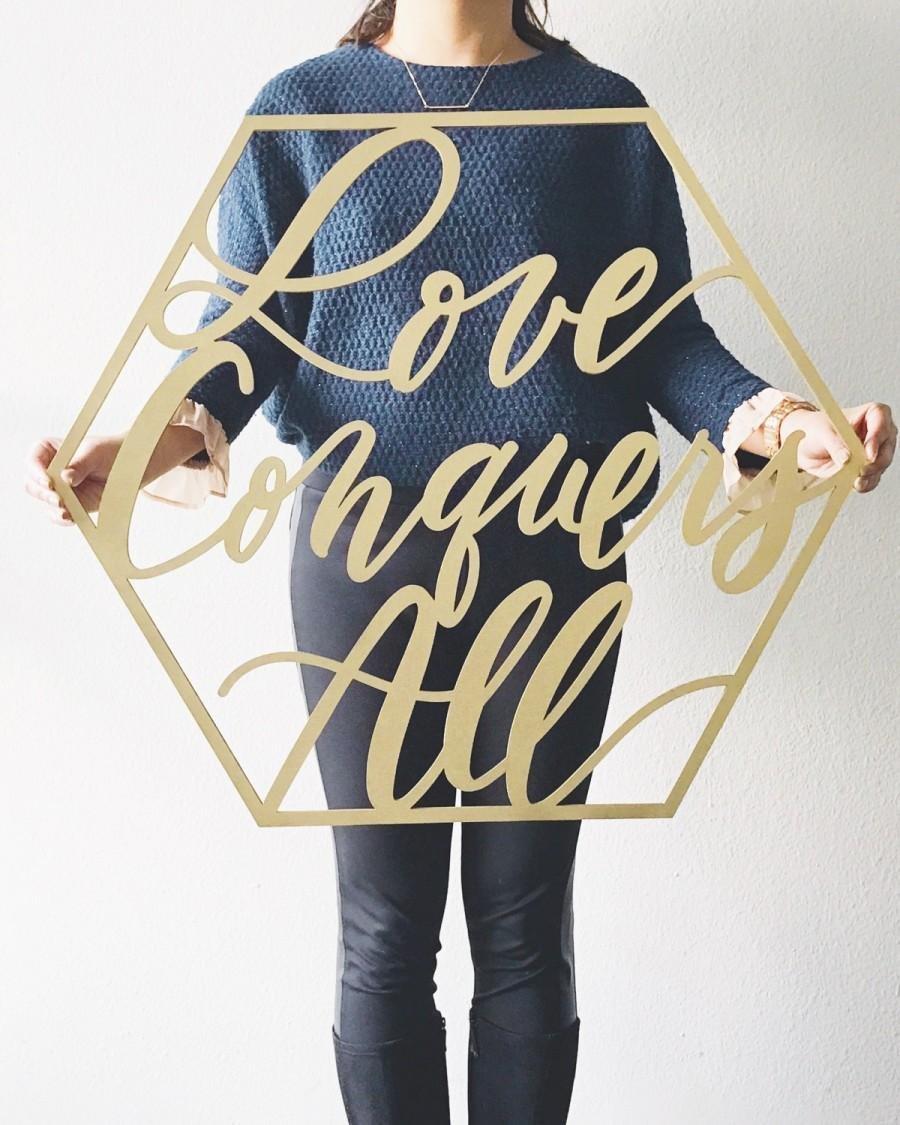 """Mariage - Large Custom Geometric Sign - Wedding Sign - Backdrop Sign - Birthday Sign - Laser Cut Wood 27"""" Wide x 24"""" tall - Shipped anywhere in  USA"""