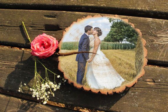 Wedding Gift Personalized Gift Engagement Photo On Wood Gift For