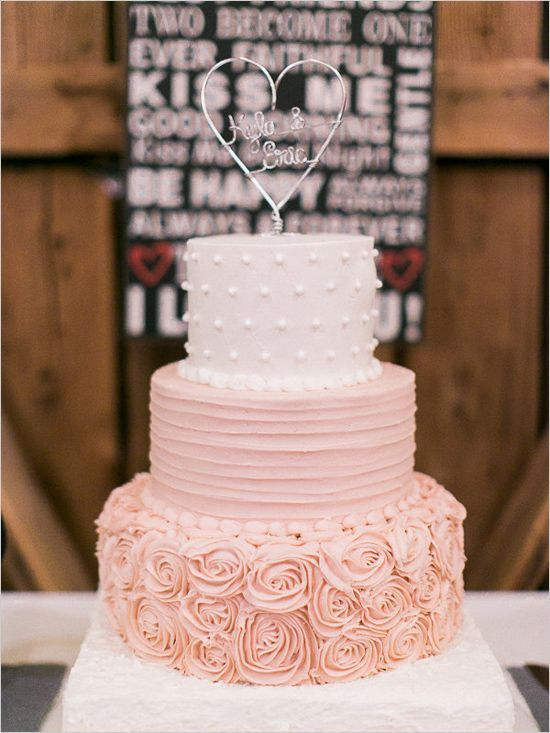 Blush Wedding Cakes For The Discriminating Bride Mon Cheri Bridals