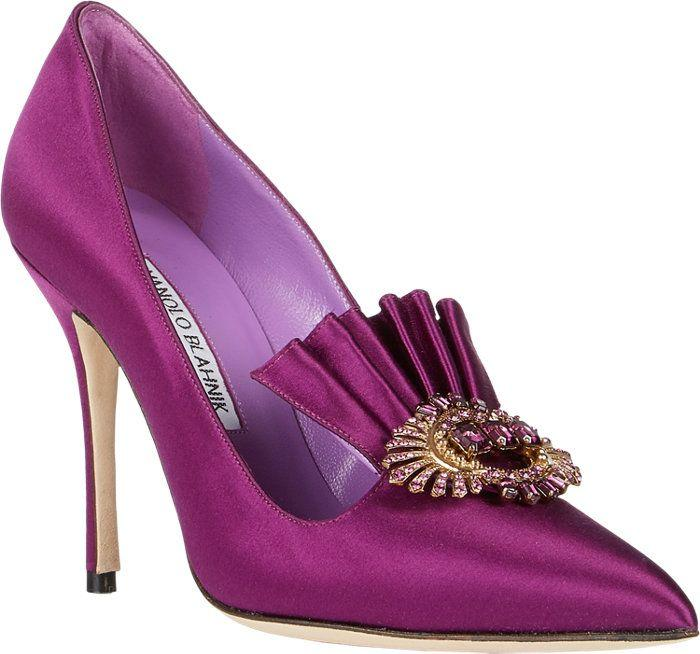 Hochzeit - Manolo Blahnik Alaleone Pumps At Barneys.com