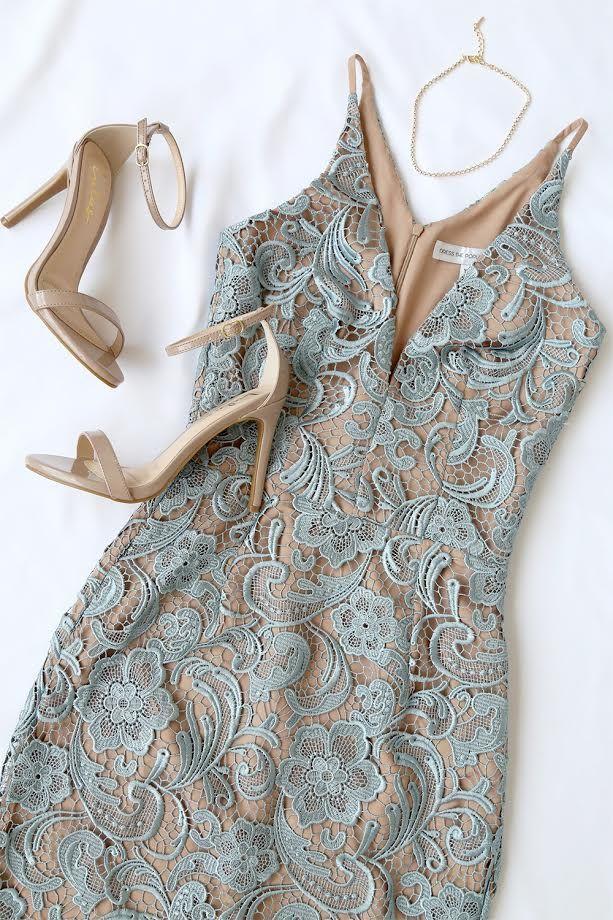 96e65990162 Dress The Population Marie Slate Blue Lace Midi Dress  2719696 ...