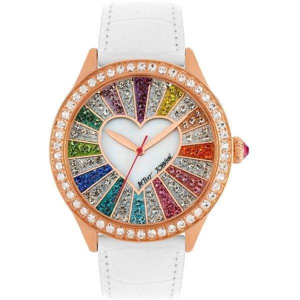 Mariage - Betsey Johnson Rainbow Crystal Face Watch