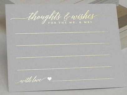Wedding - WEDDING ADVICE Cards