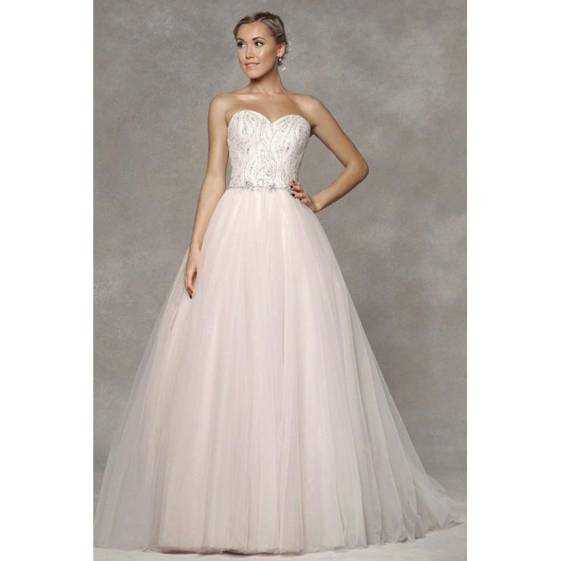 Wedding - Style 1600391 by LQ Designs - Ivory  White  Blush  Pink Tulle Floor Sweetheart  Strapless Ballgown Wedding Dresses - Bridesmaid Dress Online Shop