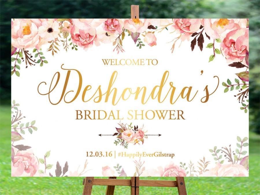 Mariage - Bridal Shower sign, Bridal Shower Welcome Sign, Bridal Shower decoration, welcome wedding sign, Bridal shower banner, Bridal shower poster