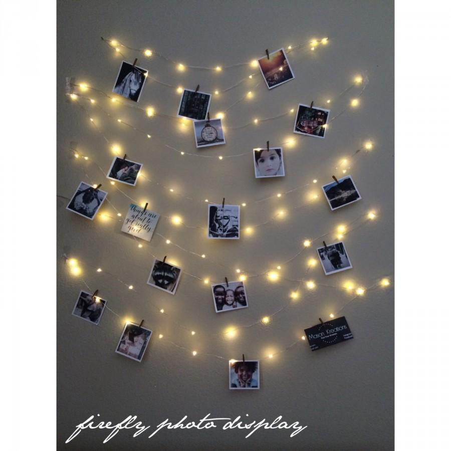 Wedding - Light String Photo Display, picture frame vintage,  photo string, picture frame collage, picture frame charm, fairy lights, wedding lights