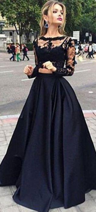 Свадьба - Gorgeous Ball Gown Bateau Floor-length Satin Prom Dress