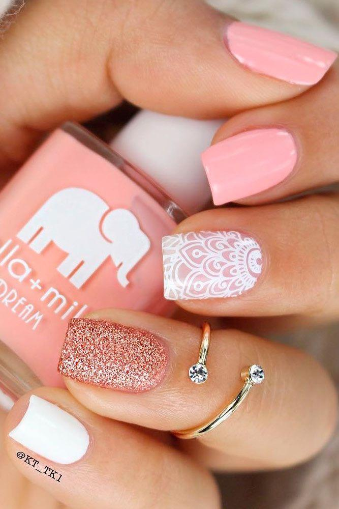 Wedding - Perfect Pink Manicure #29