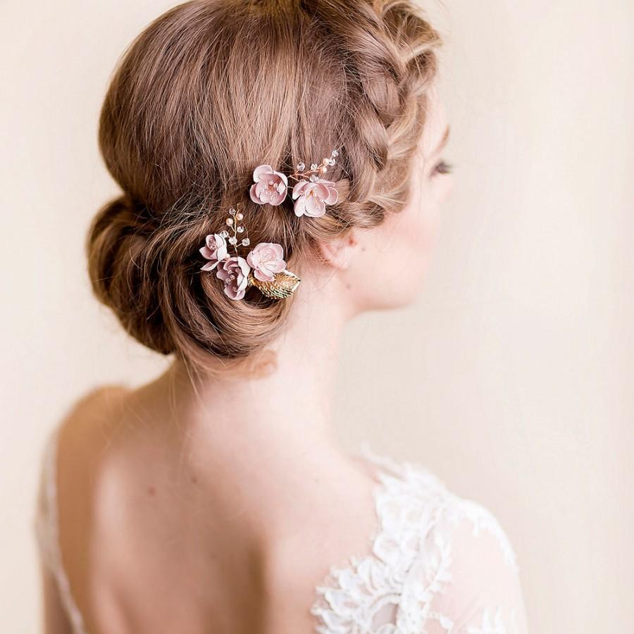 Flower Hair Pins Cherry Blossom Bridal Hairpins Wedding Hair