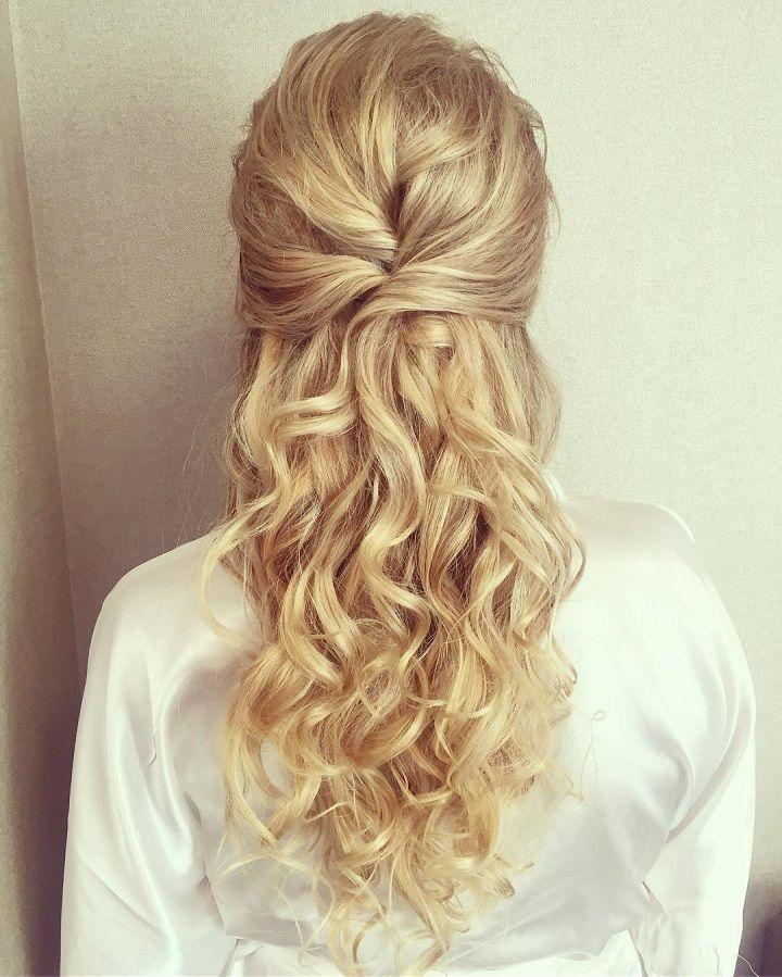 Düğün - Prettiest Half Up And Half Down Hairstyle For Romantic Brides