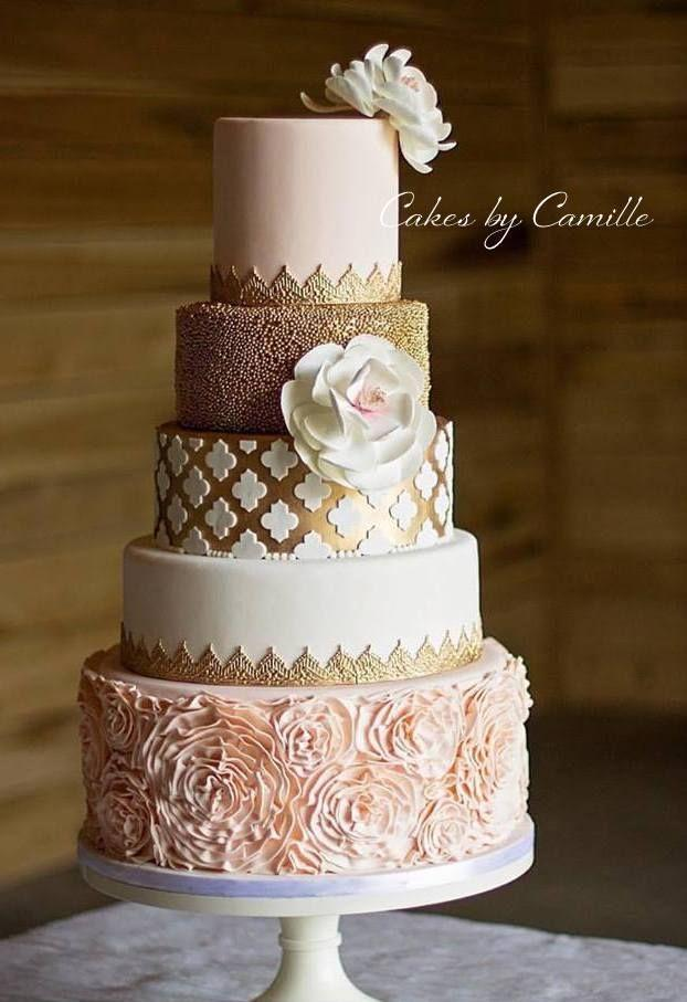 Wedding - Blush Pink Wedding Cake