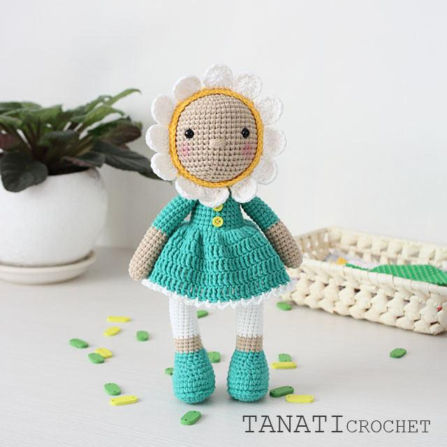 Düğün - Crochet Pattern of DOLL - Chamomile (Amigurumi tutorial PDF file) + free pattern Unicorn