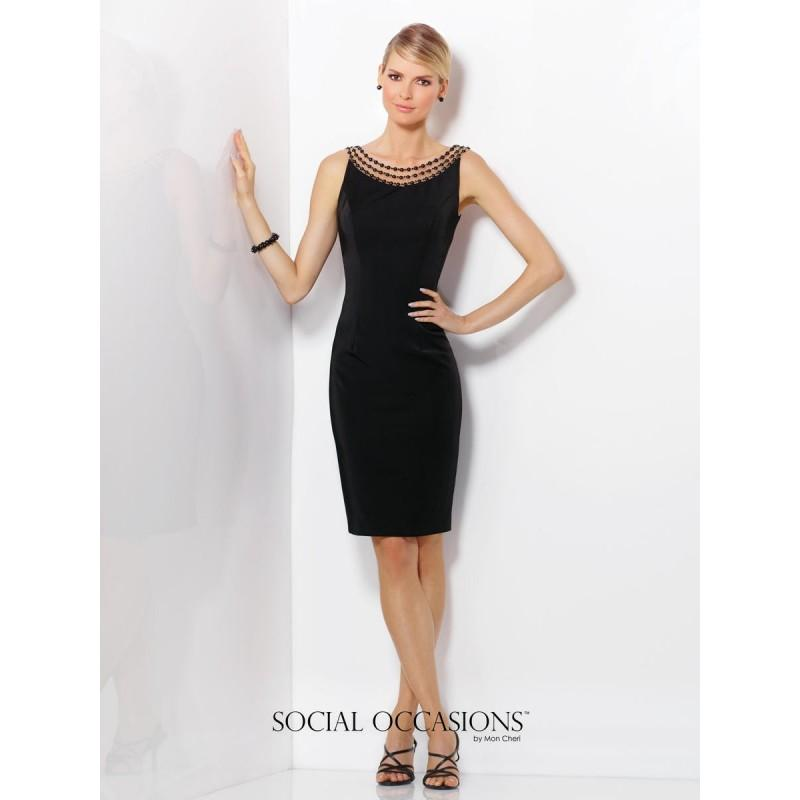 Mariage - Black Social Occasions by Mon Cheri 116833  Social Occasions by Mon Cheri - Elegant Evening Dresses