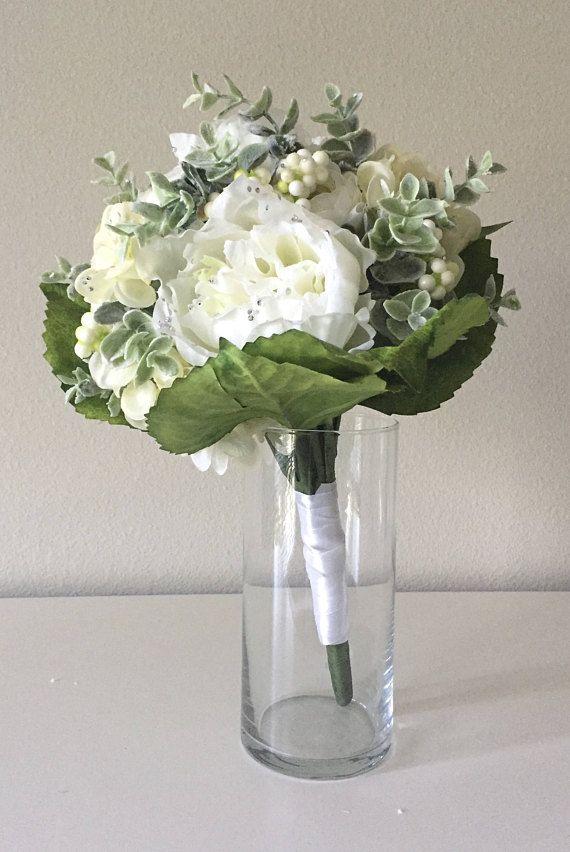 زفاف - Silk Flower Bouquet, Nursery Flowers, Baby Girl Floral Nursery Decor, Glam Nursery, Flower Nursery Bouquet, White Bouquet, Cream Bouquet