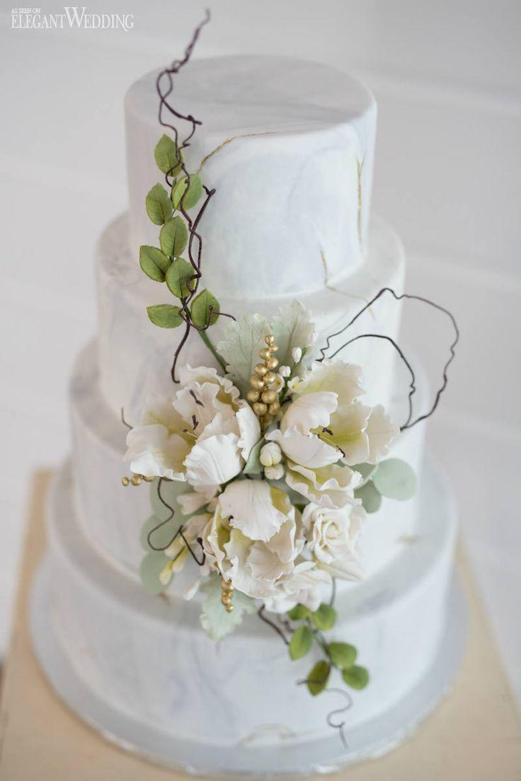 Wedding - White Marble Cake