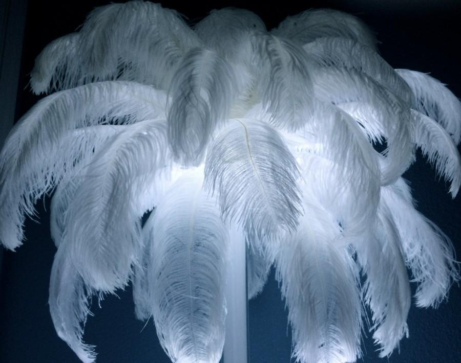 Wedding - 16 Inch White Ostrich Feathers 10 pcs FAST SHIPPING