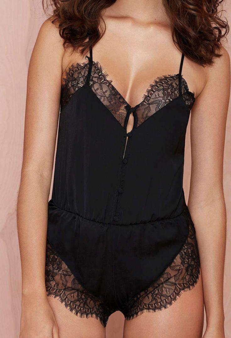 Wedding - Nasty Gal Nightscape Lace Romper