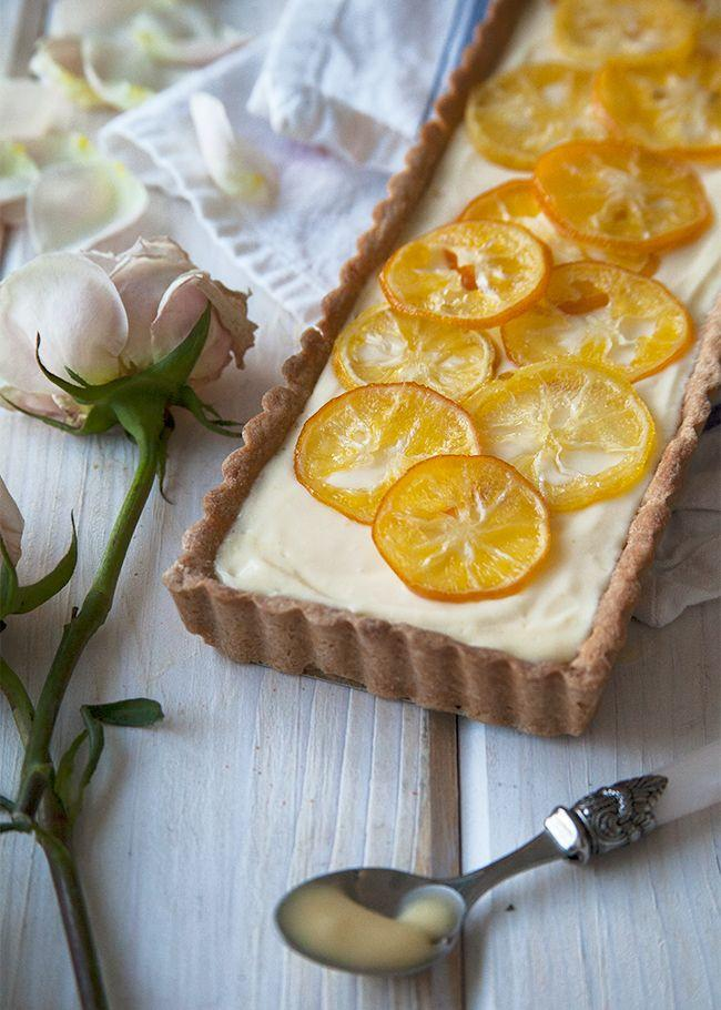 Hochzeit - Meyer Lemon Cream White Chocolate Tart